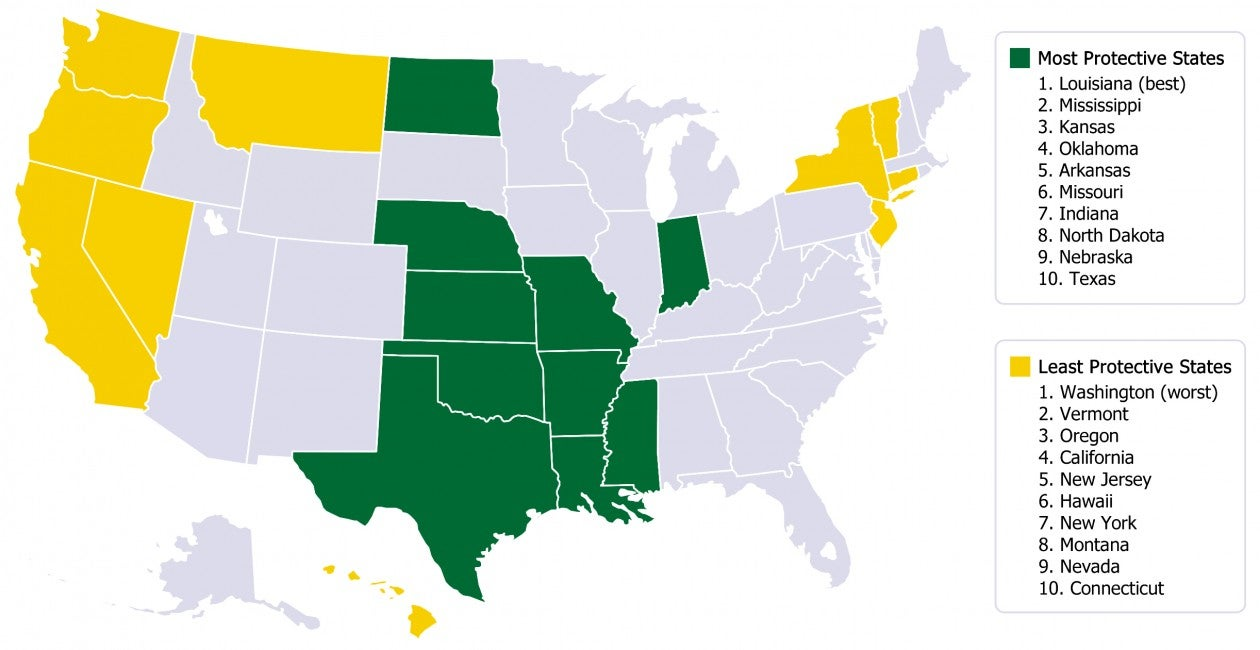 How Pro Life Is Your State This Map Holds The Answer