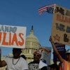 Thousands of immigrants, their families and supporters gathered in front of the US Capitol to demand Congress act now and pass immigration reform legislation to help clear the way for a path to citizenship for more than 11 million undocumented people living in the U.S.  (Photo: Miguel Juarez Lugo/ZumaPress.com/Newscom)