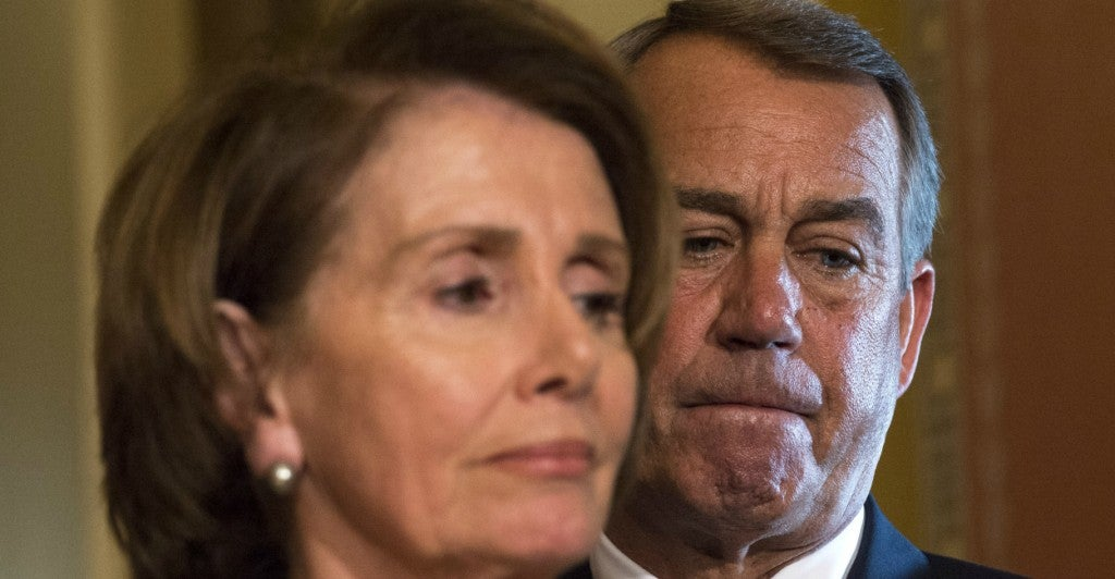House Speaker John Boehner and Minority Leader Nancy Pelosi (Photo: Kevin Dietsch/UPI/Newscom)