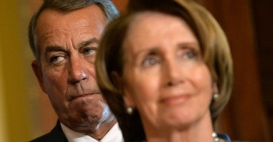 House Speaker John Boehner, R-Ohio, and Minority Leader Nancy Pelosi, D-Calif., struck a deal on payments to Medicare doctors that would add $400 billion to the national debt. (Photo: