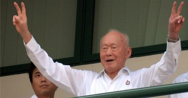 Singapore's former Prime Minister Lee Kuan Yew in 2011. (Photo: Then Chih Wey Xinhua News Agency/Newscom)
