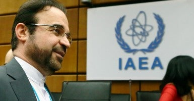 Iran's ambassador to the International Atomic Energy Agency Reza Najafi . (Photo: Heiz-Peter Bader/Reuters/Newscom)