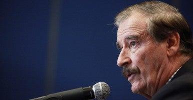 Former Mexican President Vicente Fox (Photo: Sashenka Gutierrez/EPA/Newscom)
