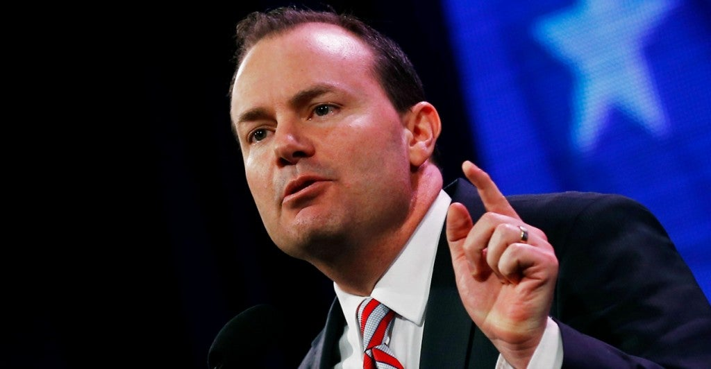 Sen. Mike Lee. (Photo: Jim Young/Reuters/Newscom)