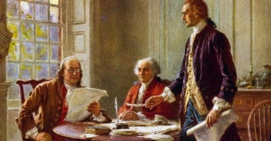 Writing the Declaration of Independence, 1776 by jean Leon Gerome Ferris, 1863-1930. (Photo: World History Archive/Newscom)
