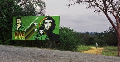 A political billboard in the  Cuban countryside. (Photo: Tom Kumpf/ZUMA Press/Newscom)