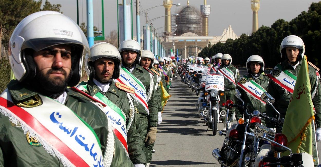 Guardia iraní, República Islámica, aniversario