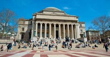 Columbia University Library. (Photo: Dosfotos/Newscom)
