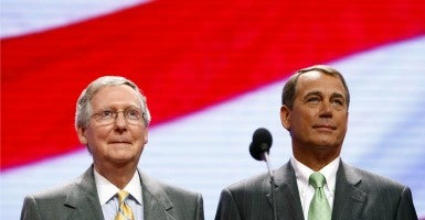 Senate Majority Leader Mitch McConnell and House Speaker John Boehner (Photo: iStock)