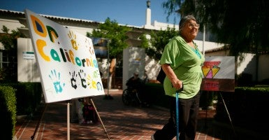 Vera Allen, 76, who has no health insurance, arrives at a Covered California event which mark the opening of the state's Affordable Healthcare Act health insurance marketplace in Los Angeles, California, Oct. 1, 2013. (Photo: Reuters/Lucy Nicholson/Newscom)