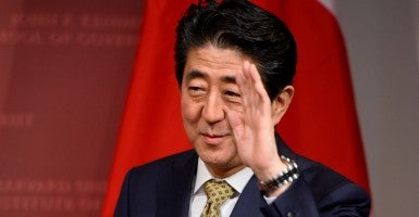 Japanese Prime Minister Shinzo Abe. (Photo: CJ Gunther/EPA/Newscom)