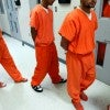 Federal inmates being processed at the Val Verde Correctional Facility in Del Rio, Texas (Tom Pennington/MCT/Newscom)