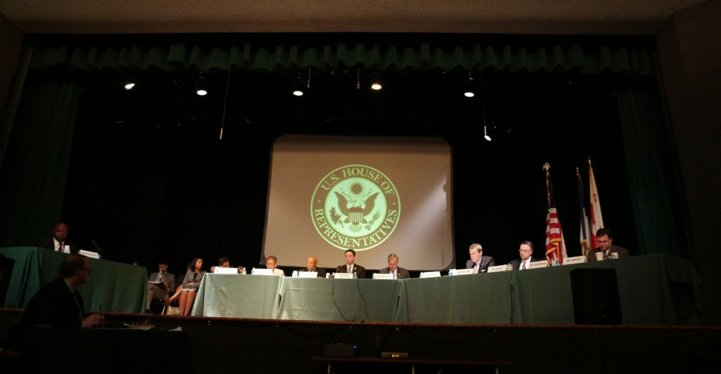Members of Congress conducted a field hearing on the D.C. Opportunity Scholarship Program at Archbishop Carroll High School. (Photo courtesy of House Oversight and Government Reform Committee)