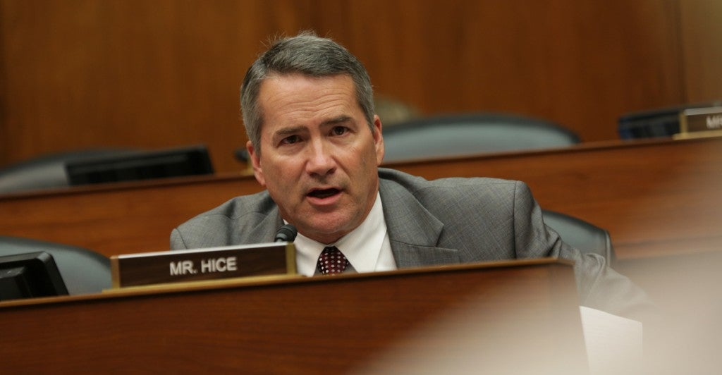 Rep. Jody Hice, R-Ga., at a hearing on Freedom of Information Act delays. (Photo: House Oversight and Government Reform Committee)