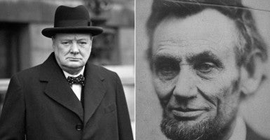 Winston Churchill (Photo: Pa/ZUMA Press/Newscom) and Abraham Lincoln (Photo: Abaca Press/Sipa USA/Newscom)