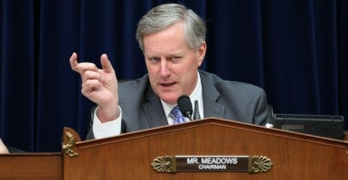 Rep. Mark Meadows, R-N.C., was reinstated as a House subcommittee chairman after Republicans rallied to his defense. (Photo: House Oversight and Government Reform Committee)