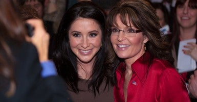 Bristol Palin poses with mother Sarah, the former governor of Alaska, at CPAC on Feb. 11, 2012. (Photo: Jeff Malet Photography/Newscom)