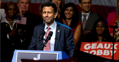 Louisiana Gov. Bobby Jindal declares his candidacy in Kenner, La.  (Photo: David Rae Morris/Polaris/Newscom)