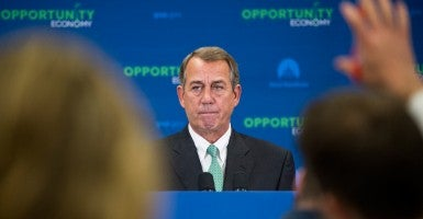 House Speaker John Boehner at a press conference in the Capitol, June 24, 2015. (Photo: Bill Clark/CQ Roll Call/Newscom)