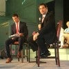 Sen. Marco Rubio, R-Fla., and Pete Hegseth, the CEO of Concerned Veterans for America at a town hall in Exeter, N.H. (Photo: Kate Scanlon/The Daily Signal)