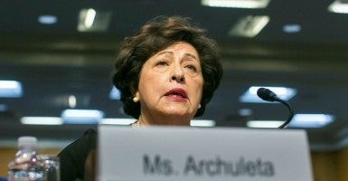 OPM Director Katherine Archuleta: No one 'personally responsible' for hack of millions of personnel files. (Photo: Al Drago/CQ Roll Call/Newscom)