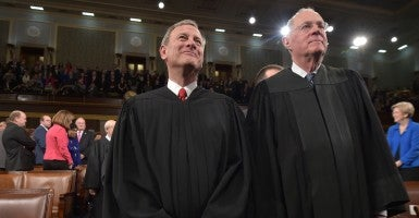 Chief Justice John Roberts and Justice Anthony Kennedy at the State of the Union address, Jan. 20, 2015. (Photo: Mandel Ngan/ZUMA Press/Newscom)
