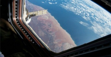 A view of southwestern Africa as seen from the International Space Station. (Photo: N.A.S.A/SIPA/Newscom)