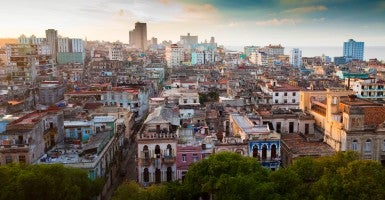Rooftop cityscape at sunset in Havana, Cuba. (Photo: Bella Falk/Photoshot/Newscom)