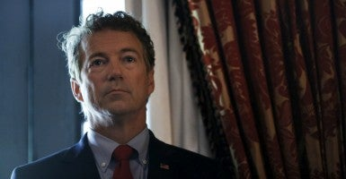Sen. Rand Paul furthered the push for criminal justice reform during a bipartisan discussion July 22, 2015. (Photo: Carlos Barria/Reuters/Newscom)