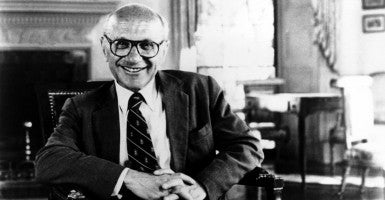 Conservative economist Milton Friedman would have been 103 years old if he were still living today. He won a Nobel Prize for his work in economics and served as an advisor to President Nixon. (Photo: Everett Collection/Newscom)