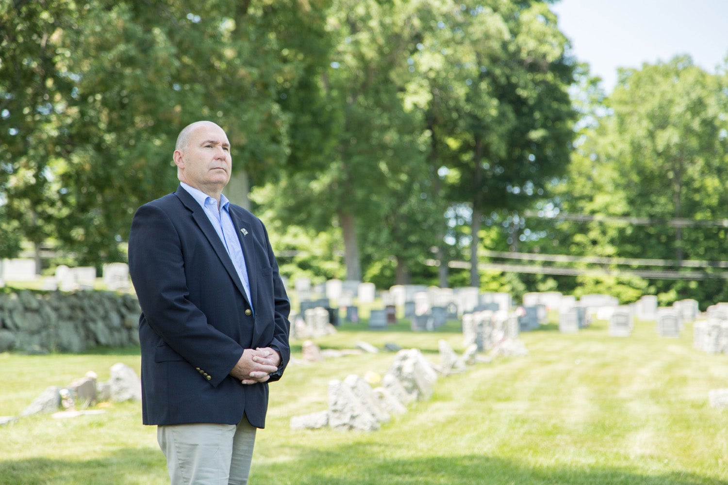 Andrew Schafer serves as the executive director of Catholic cemeteries for the Archdiocese of Newark. The Archdiocese sued the Christie administration over a new law the Archdiocese argues infringes upon its economic liberty, as the law prohibits the Archdiocese from selling headstones to its parishioners. (Photo: Institute for Justice)