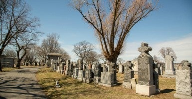 One of the cemeteries owned by the Roman Catholic Archdiocese of Newark. The Archdiocese sued New Jersey Gov. Chris Christie after the legislature passed a law prohibiting religious entities from selling monuments and private mausoleums. (Photo: Institute for Justice)