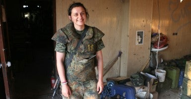 "Julia—nom de guerre ""Black""—a 22-year-old Ukrainian soldier (Photo: Nolan Peterson/The Daily Signal)"