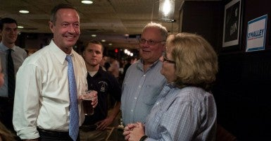 Former Maryland Gov. Martin O'Malley, who opposes the death penalty and supports the right to  to vote for people who have felony records, discussed criminal justice reform in Iowa. (Photo: CJ GUNTHER/EPA/Newscom)