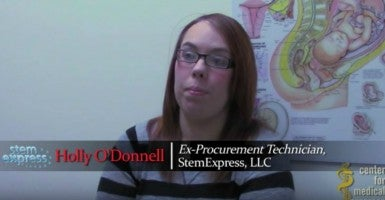 Holly O'Donnell, a former blood and tissue procurement technician for StemExpress, says in a new Center for Medical Progress video that Planned Parenthood obtains aborted fetal organs without patient consent. (Photo: The Center for Medical Progress)