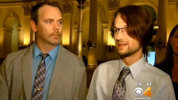 Charlie Craig and David Mullins filed the complaint against Jack Phillips. (Photo: CBS4, KCNC-TV Denver)