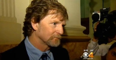 Jack Phillips says he has lost 40 percent of his business since he stopped making all wedding cakes rather than design them for same-sex weddings. (Photo: CBS4, KCNC-TV Denver)