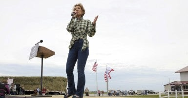 "At a town hall in Iowa, former Hewlett-Packard CEO Carly Fiorina said the EPA needs to ""roll back"" regulations. (Photo: Dave Kaup/Reuters/Newscom)"