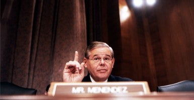 Sen. Bob Menendez, D-N.J., announced his opposition to the Iran nuclear deal today, becoming the second Senate Democrat to do so. (Photo: Olivier Douliery/MCT/Newscom)