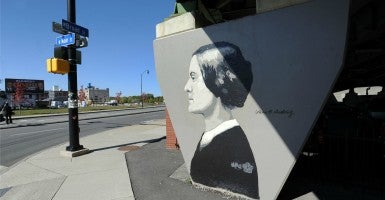 A mural in honor of Susan B. Anthony in her hometown of Rochester, N.Y. (Photo:  Doug Meszler / Splash News/Newscom)