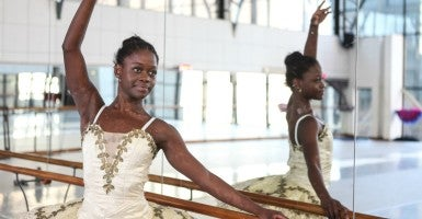 Michaela DePrince rehearsed for her first professional full ballet role as the lead in Le Corsaire while in Johannesburg, South Africa, back in July of 2012. (Photo: Jordi Matas/Polaris/Newscom)