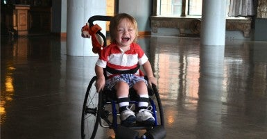 Kaden Myers is confined to a wheelchair due to spinal muscular atrophy. (Photo:Kaden's Cure for Spinal Muscular Atrophy/Facebook)