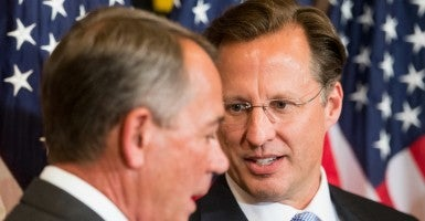 Rep. Dave Brat, R-Va., said the upcoming debate on funding the government and stripping Planned Parenthood of its federal funding will play a role in whether House Speaker John Boehner retains his post. (Photo: Bill Clark/CQ Roll Call/Newscom)