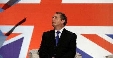 "Liam Fox, a conservative member of Parliament and the United Kingdom's former defense secretary, said Thursday that the P5+1 ""caved"" to Iran's demands by conceding to immediate sanctions relief. (Photo: Felipe Trueba/ZUMApress/Newscom)"