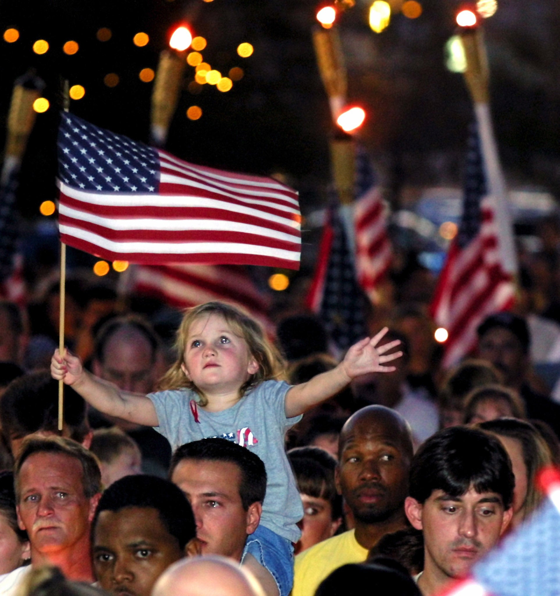 22 photos of 11 and the days after four year old alana milawski waves an american flag as she sits on her