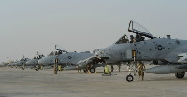 A-10 Warthogs in support of Operation Inherent Resolve. (Photo: Tech. Sgt. Jared Marquis/U.S. Air Force)