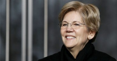 Sens. Elizabeth Warren (above) and David Vitter introduced bipartisan legislation earlier this year that would hinder megabank bailouts. (Jonathan Ernst/Reuters/Newscom)