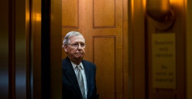 Republican leaders in the Senate unveiled a continuing resolution today that funds the government for less than three months and prohibits Planned Parenthood from receiving federal funds for one year. (Photo: Bill Clark/CQ Roll Call/Newscom)
