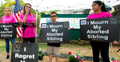 The pro-abortion hashtag #shoutyourabortion, created by writers Lindy West and Amelia Bonow, was met with a pro-life response after trending Monday on Twitter. (Brian Cahn/ZUMA Press/Newscom)