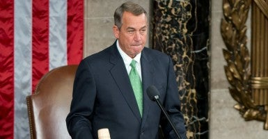 House Speaker John Boehner will step down Oct. 30, both from that job and from Congress. (Photo: Ron Sachs/Newscom)